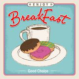 Breakfast menu box or illustration and food beverage poster Stock Photo