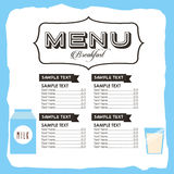 Breakfast menu design. Vector illustration eps10 graphic Royalty Free Stock Photography