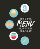 Breakfast menu design. Vector illustration eps10 graphic Royalty Free Stock Images