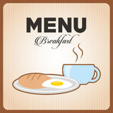 Breakfast menu design. Vector illustration eps10 graphic Stock Photo