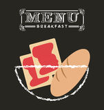 Breakfast menu design Stock Photos