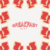 Breakfast menu design. Vector illustration eps10 graphic Royalty Free Stock Photo