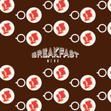 Breakfast menu design. Vector illustration eps10 graphic Royalty Free Stock Photos