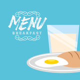 Breakfast menu design. Vector illustration eps10 graphic Stock Photography
