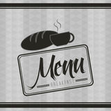 Breakfast menu design. Vector illustration eps10 graphic Royalty Free Stock Image