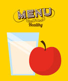 Breakfast menu design Stock Image