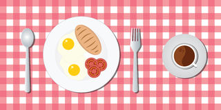 Breakfast menu with egg bread Stock Photos