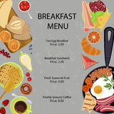 Breakfast menu flat design Stock Photo