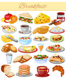 Breakfast Menu Food Collection Stock Photo