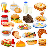 Breakfast Menu Food Collection Stock Images