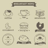 Breakfast Menu Hand Drawing Style Stock Photography