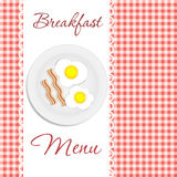 Breakfast menu vector illustration Royalty Free Stock Photography