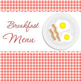 Breakfast menu vector illustration Royalty Free Stock Photo