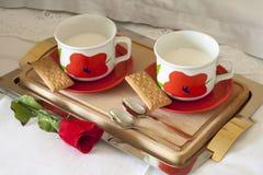 Breakfast with Milk stock photos
