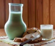 Breakfast with milk Royalty Free Stock Photo