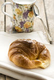 Breakfast Milk and Croissant royalty free stock image