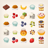 Breakfast mix of food Stock Images