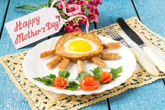 Breakfast for Mom Royalty Free Stock Photography