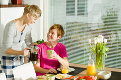 Breakfast moment Stock Photography