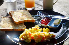 Breakfast in Morning at Resort Phang nga Thailand Royalty Free Stock Image