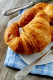 Breakfast mornings pastry croissant french Royalty Free Stock Images