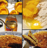 A breakfast mosaic of pumpkin pancakes Stock Images