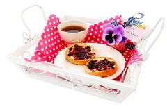 Breakfast for mother Royalty Free Stock Image