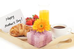Breakfast for mother's day Stock Images