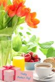 Breakfast for mother's day Royalty Free Stock Photo