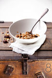 Breakfast with muesli Stock Image