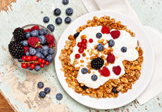 Breakfast with muesli Stock Image