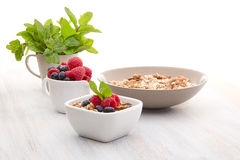 Breakfast of muesli and berries Royalty Free Stock Photography