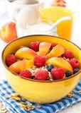 Breakfast with muesli Royalty Free Stock Photo