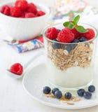 Breakfast with muesli Stock Photography