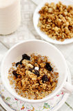 Breakfast - Muesli with milk Stock Photos