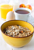 Breakfast with muesli Royalty Free Stock Images