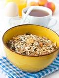 Breakfast with muesli Stock Photo