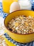 Breakfast with muesli Stock Photos