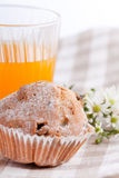Breakfast with muffin Stock Photography