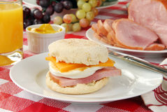 Breakfast muffin Royalty Free Stock Image