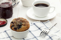 Breakfast with muffin Royalty Free Stock Image