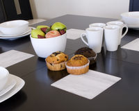 Breakfast with muffins Stock Image