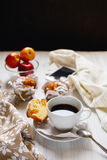 Breakfast muffins and coffee Royalty Free Stock Photography