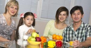 Breakfast of multiethnic family Stock Photography