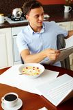Breakfast newspaper Stock Photos