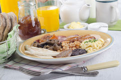 Breakfast in northern ireland ulster fry Royalty Free Stock Images