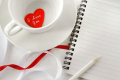 Breakfast notes Stock Photo