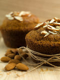 Breakfast nutritious almond muffins Stock Image