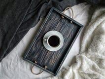 Breakfast дом спальня утро уют чай кофе Royalty Free Stock Photo