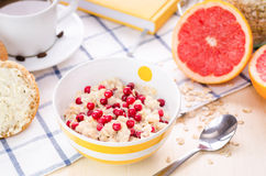 Breakfast with oatmeal Stock Photography
